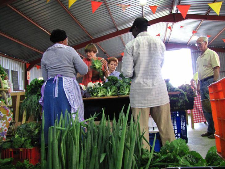 Preston stall at Karkloof market res.