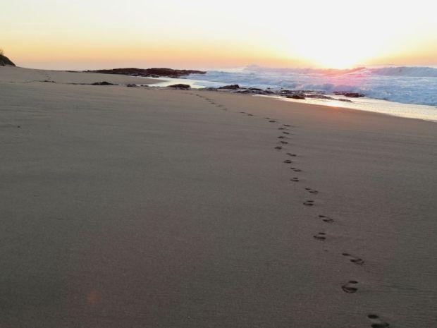 r beach footprints