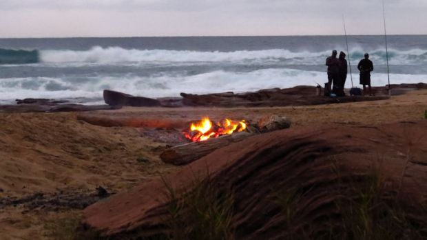 r morning fishermen and fire