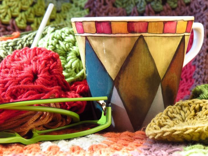 r crochet blanket tea cup