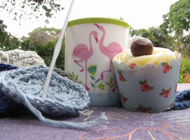 r flamingo mug afternoon tea crochet cup cake