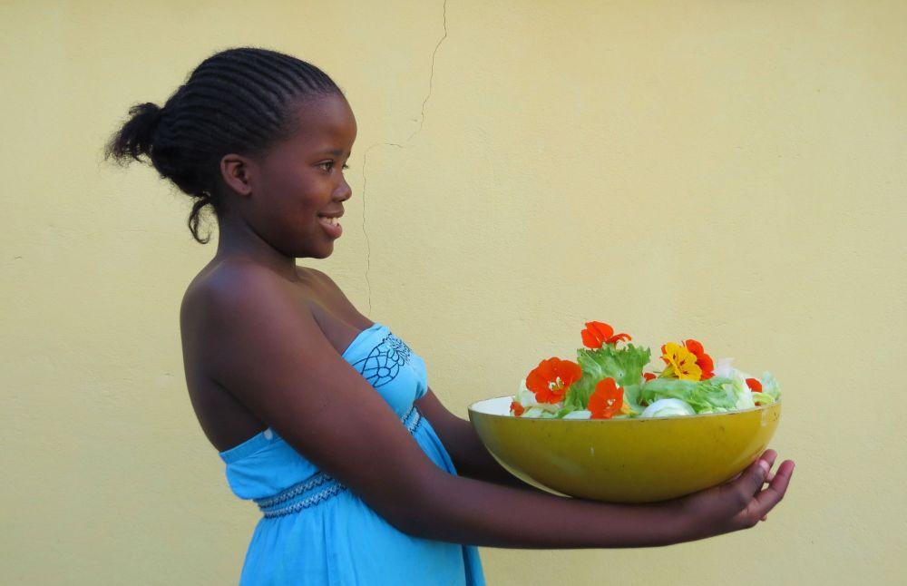 nosipho and salad