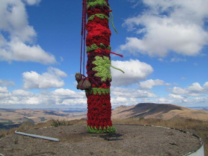 r Dargle celebration inhlosane yarn bomb