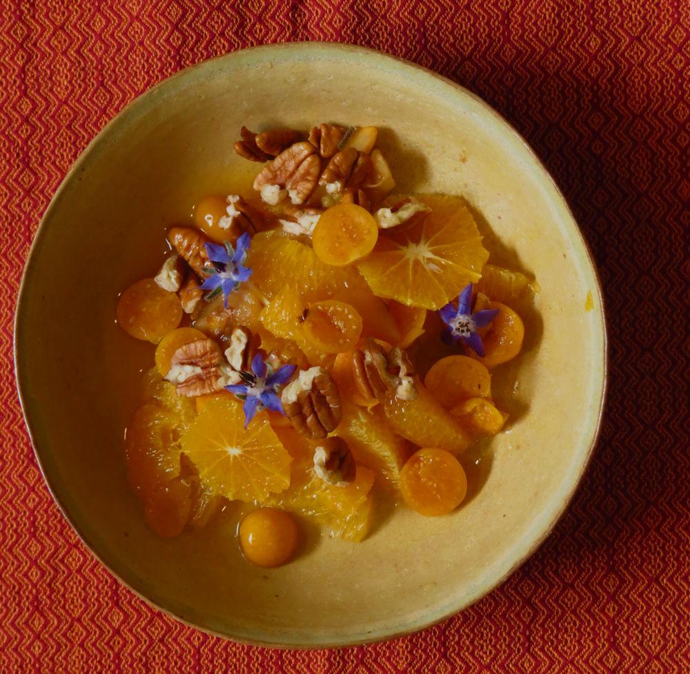 r orange, loquat, cape gooseberry, pecan and borage