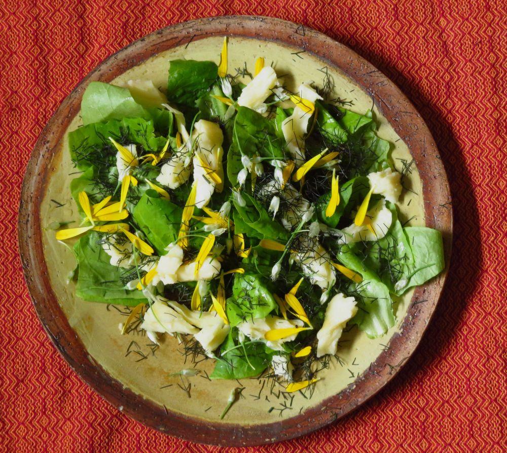 sald moz lettuce fennel calendula