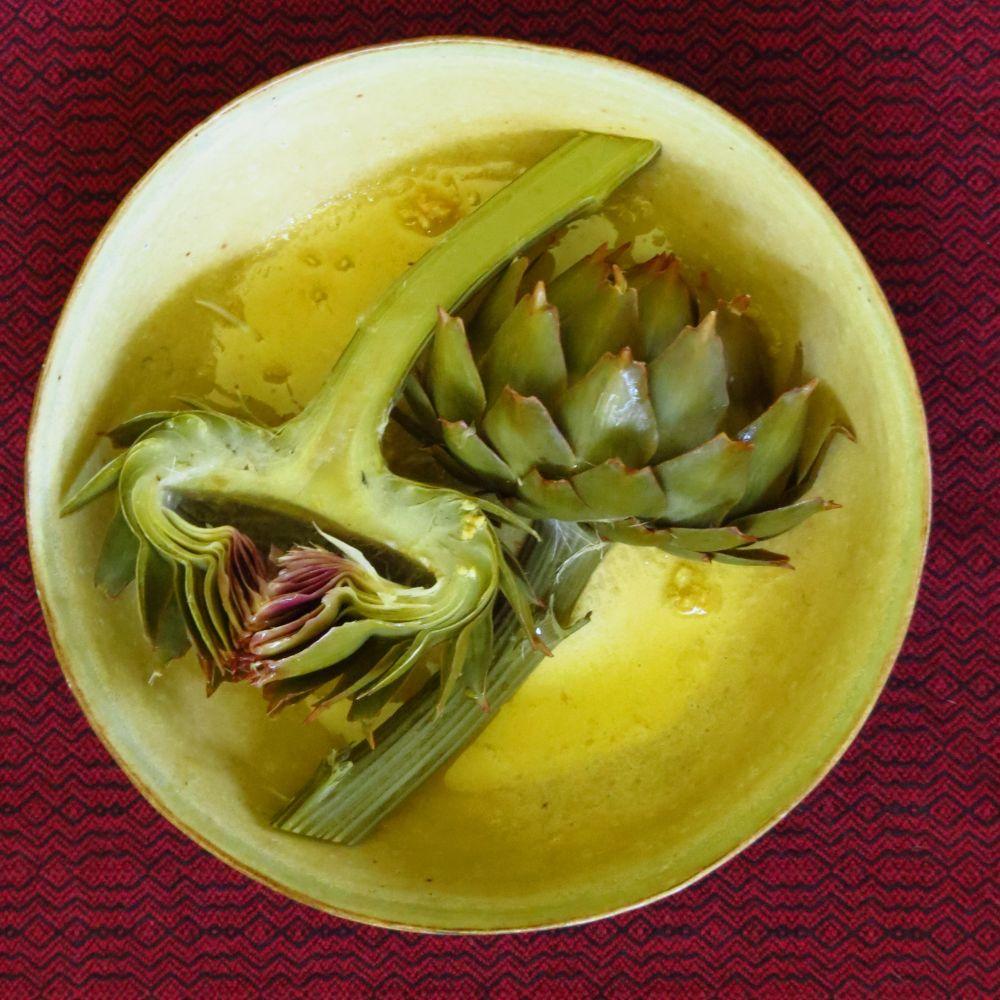 artichokes in butter