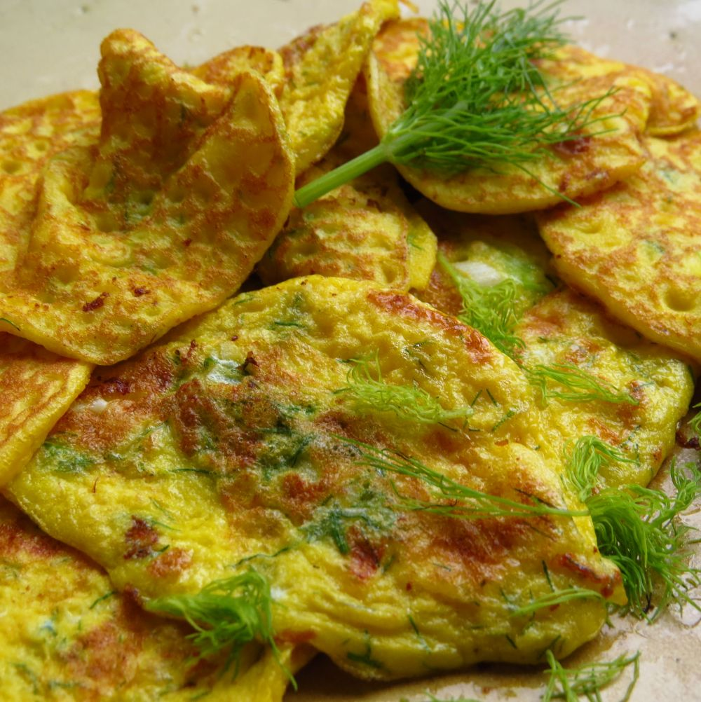 fennel omlettes