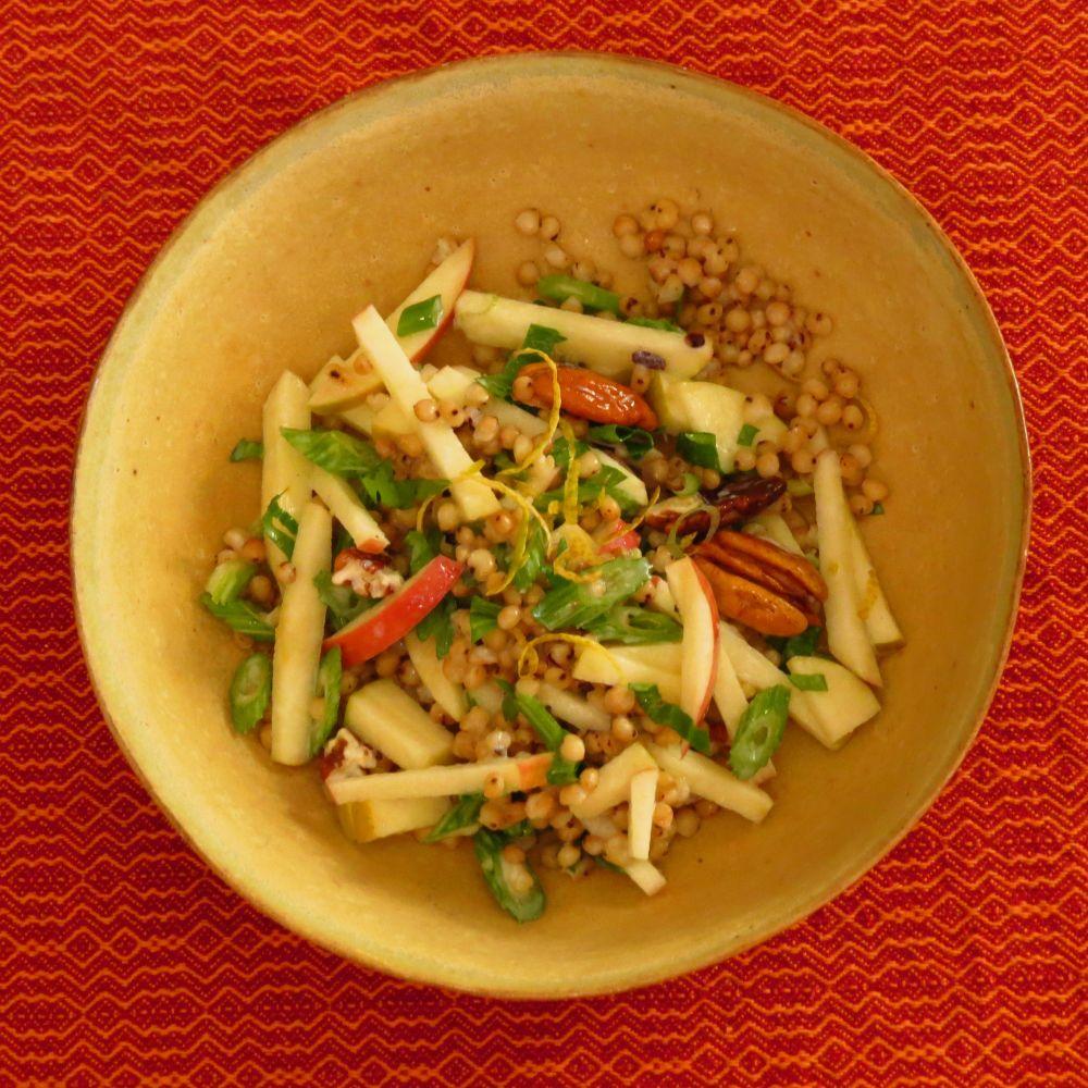 sorghum, apple, celery salad
